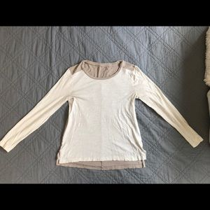 Women's Madewell Two Tone Long Sleeve Top, Small